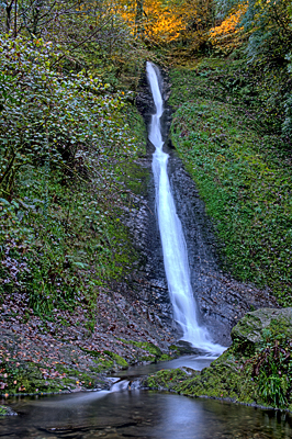 White Lady Fall, Lydford Gorge, England